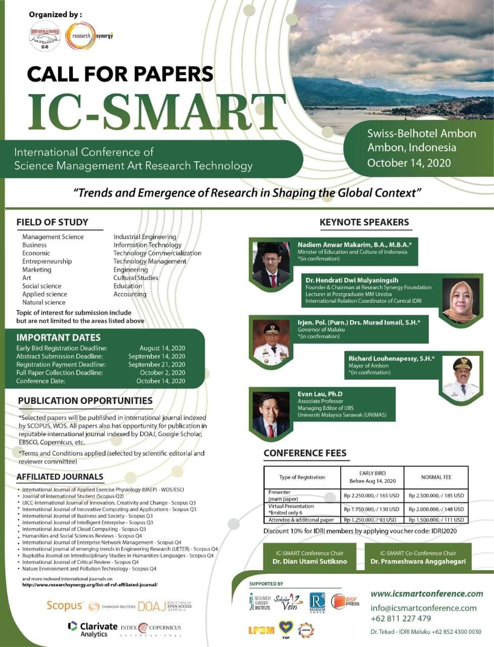 International Conference of Science Management Art Research Technology (IC-SMART)
