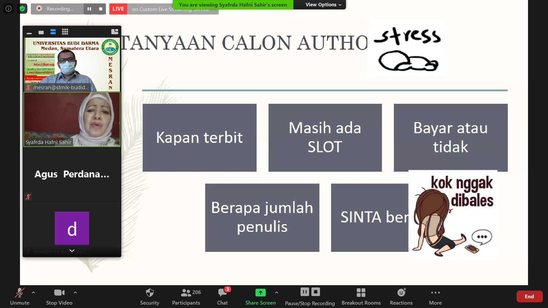 Download Materi Webinar Tips dan Strategi Publish di Jurnal Terakreditasi SINTA