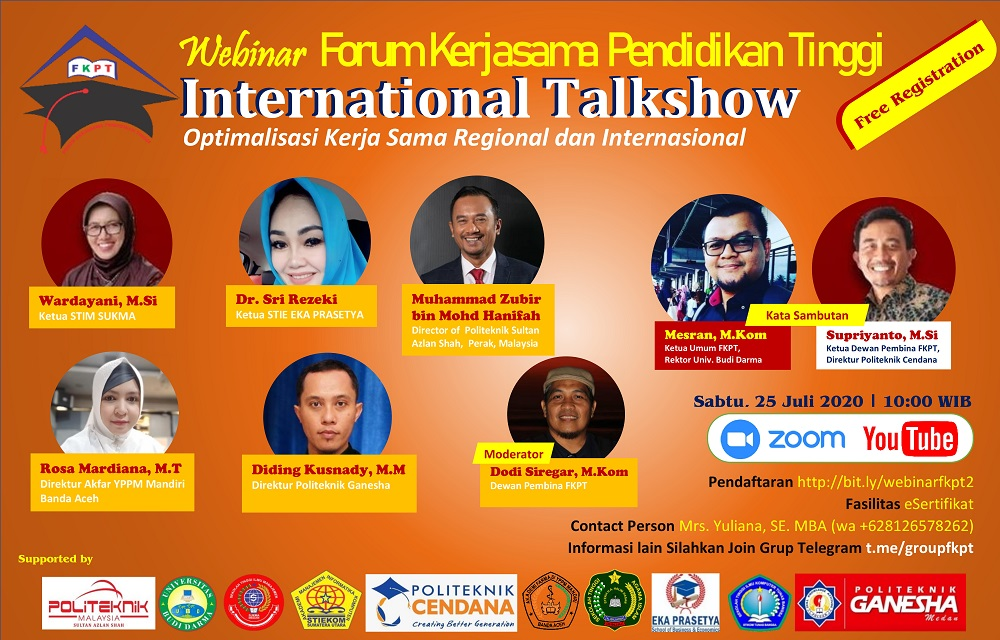 FKPT Gagas International Talkshow Optimalisasi Kerjasama Regional dan Internasional