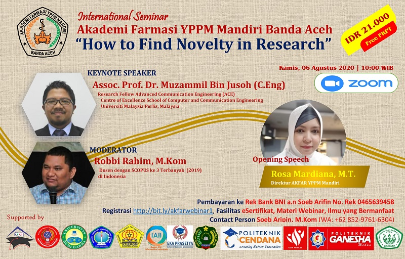 AKADEMI FARMASI YPPM Mandiri Banda Aceh Gelar Seminar Internasional How to find Novelty in Research